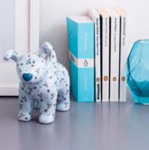 Winter Lily Snowdog figurine