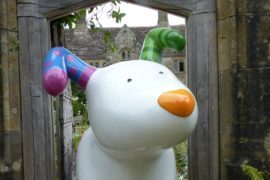 Snowdog Art Trails at Nymans